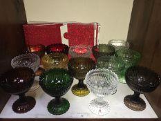 SECTION 15. Fourteen various Finnish Iittala Mariskooli by Marimekko coloured glass pudding bowls,