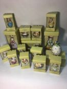 Fifteen various Villeroy & Boch Spring Ornaments including easter bunny trinket boxes of varying