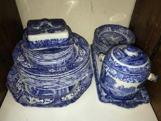 SECTION 23 & 24. A Spode blue and white Italian pattern part dinner and tea service 'C1816',