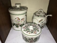 SECTION 12. Portmeirion 'Botanic Garden' pattern large bread crock, large soup tureen, cover and