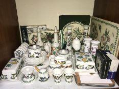 SECTION 5. Portmeirion 'Botanic Garden' pattern tablewares including pair of candlesticks, salt