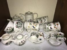SECTION 2. Portmeirion 'Botanic Garden' pattern part tea and coffee set comprising coffee pot, two
