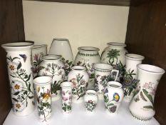 SECTION 13. Portmeirion 'Botanic Garden' pattern, fourteen various vases, the tallest 28cm