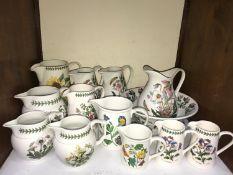 SECTION 9. Portmeirion 'Botanic Garden' pattern large jug and basin set together with eleven various