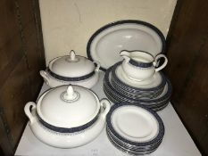SECTION 30. A 29-piece Royal Doulton 'Sherbrooke' pattern part dinner service comprising tureens,