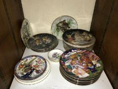 SECTION 26. A quantity of ceramic wall plates including seven limited edition Franklin Mint Teddy