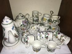 SECTION 7. Portmeirion 'Botanic Garden' afternoon tea wares including tea and coffee pots, two