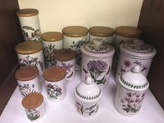 SECTION 3. Portmeirion 'Botanic Garden' pattern various food storage jars including ten with