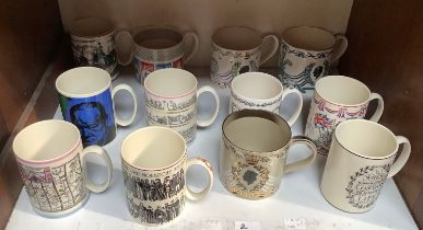 SECTION 3. A collection of twelve Wedgwood Design Studio commemorative mugs.