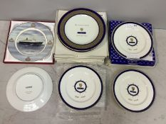 A collection of 7 dinner plates relating to Seabourn Sun Millennium cruise and 9 limited edition