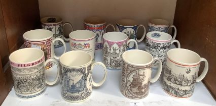 SECTION 2. A collection of twelve Wedgwood Design Studio commemorative mugs.