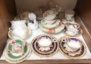 SECTION 20. Various 19th century porcelain trios and tea wares including Vienna etc.