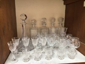 SECTION 17. A quantity of assorted drinking glasses comprising liqueur glasses, various stemware