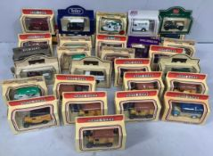 Thirty two various die cast commemorative model cars by Lledo including Vers Markt Promotional
