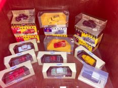 A collection of 17 assorted boxed die-cast model cars, all Morris Minor variations including