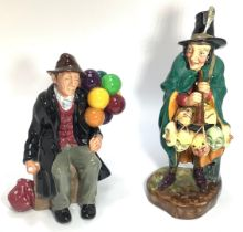 Two Royal Doulton figures comprising 'The Mask Seller HN2103' and 'The Balloon Man HN 1954'