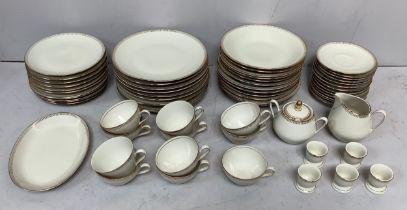 A 64-piece Winterling, Bavaria 'Astrid' part tea dinner service comprising cups, saucers, dinner