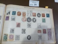 Stamps : Old Time World stamp album collection in