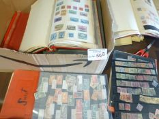 Stamps : Box of stamps in albums incl 2 British C