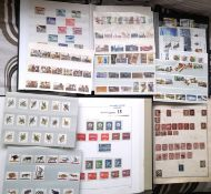 Stamps : Box albums 5, stockbooks 2 , 1 large fold