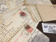 Stamps : Postcard collection with postman interest