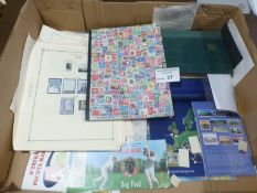 Stamps : Large box of stamp in albums, pages loose