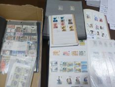 Stamps : Box of GB commemorative mint & used stamp