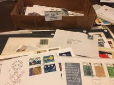 Stamps : Small box of Worldwide covers / commonwea