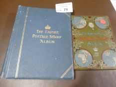 Stamps : The Empire & Rowland Hill stamp albums &