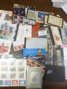 Stamps : Good box od GB modern mint inc pres packs