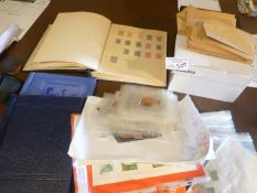 Stamps : Large box of stamps in albums/progs loose