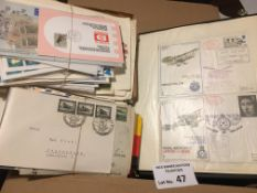 Stamps : Covers inc German (80), S. Africa (35) pl
