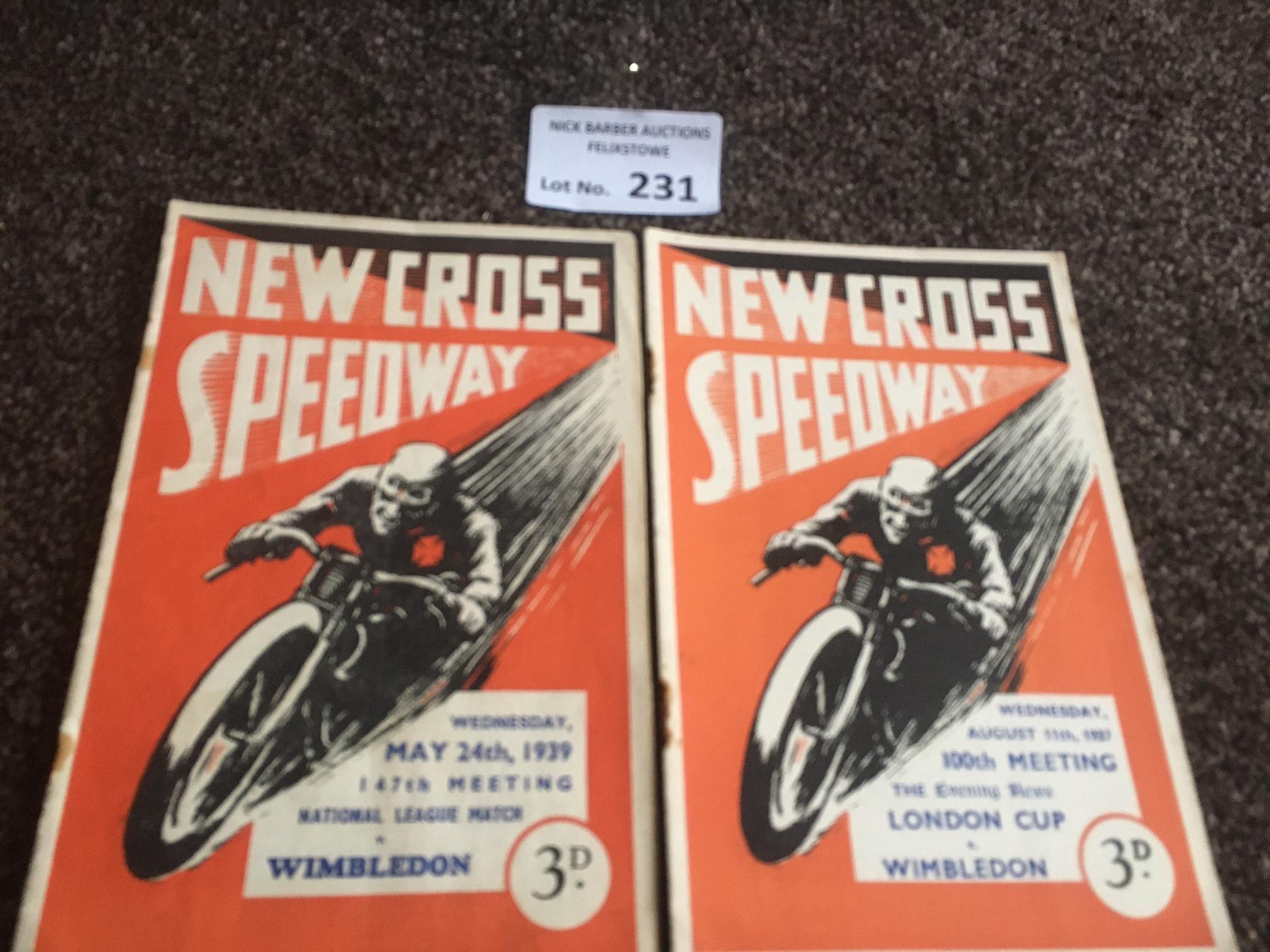 Speedway : New Cross progs (2) v Wimbledon 24/05/1