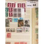 Stamps : GB stockbook of definitives/machins varia