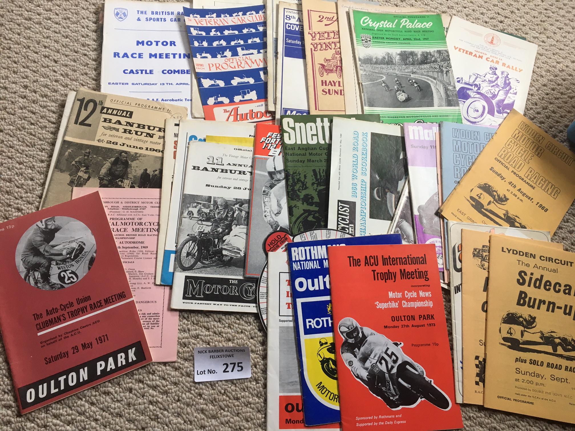Motor Cycling : Good bundle of progs 1950's onward
