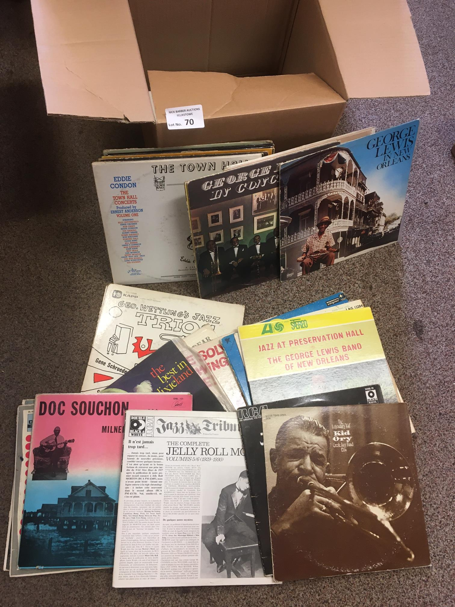 Records : Jazz - Box of albums inc Jelly Roll, Geo