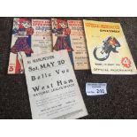 Speedway : West Ham (2) v Wimbledon 17/07/1934 (pi