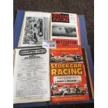 Stock Car : Two nice folders of progs late 1960's
