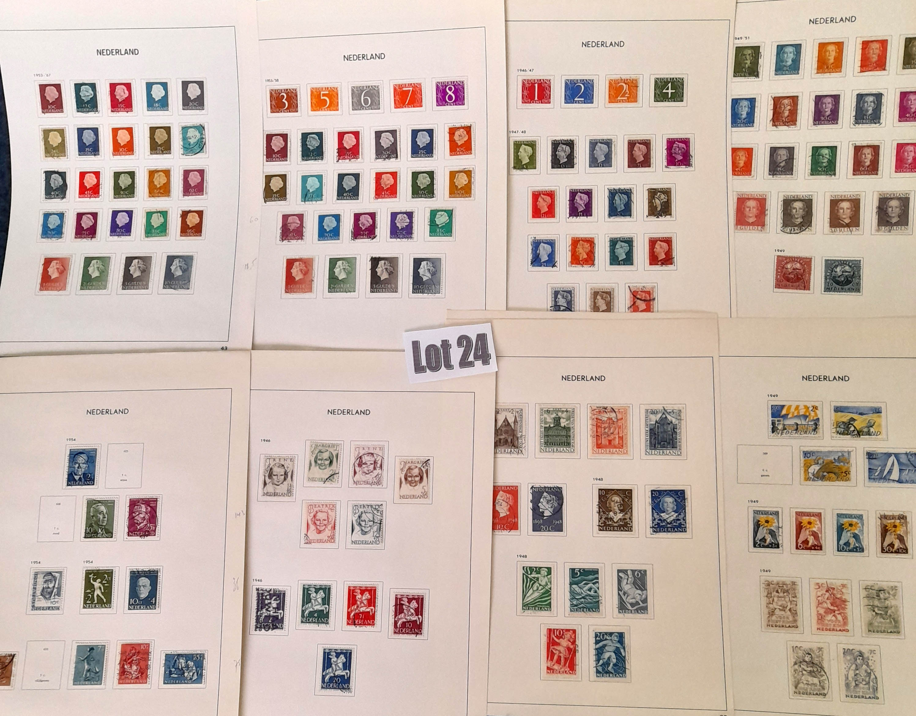 Stamps : NETHERLANDS Good Used Sel late 30s to mi