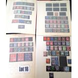 Stamps : GREAT BRITAN In Red Windsor Geo V to QEI