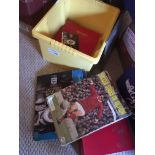 Football : Box of various inc Shoot bound volumes