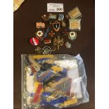 Collectables : Small selection of badges, some Rus