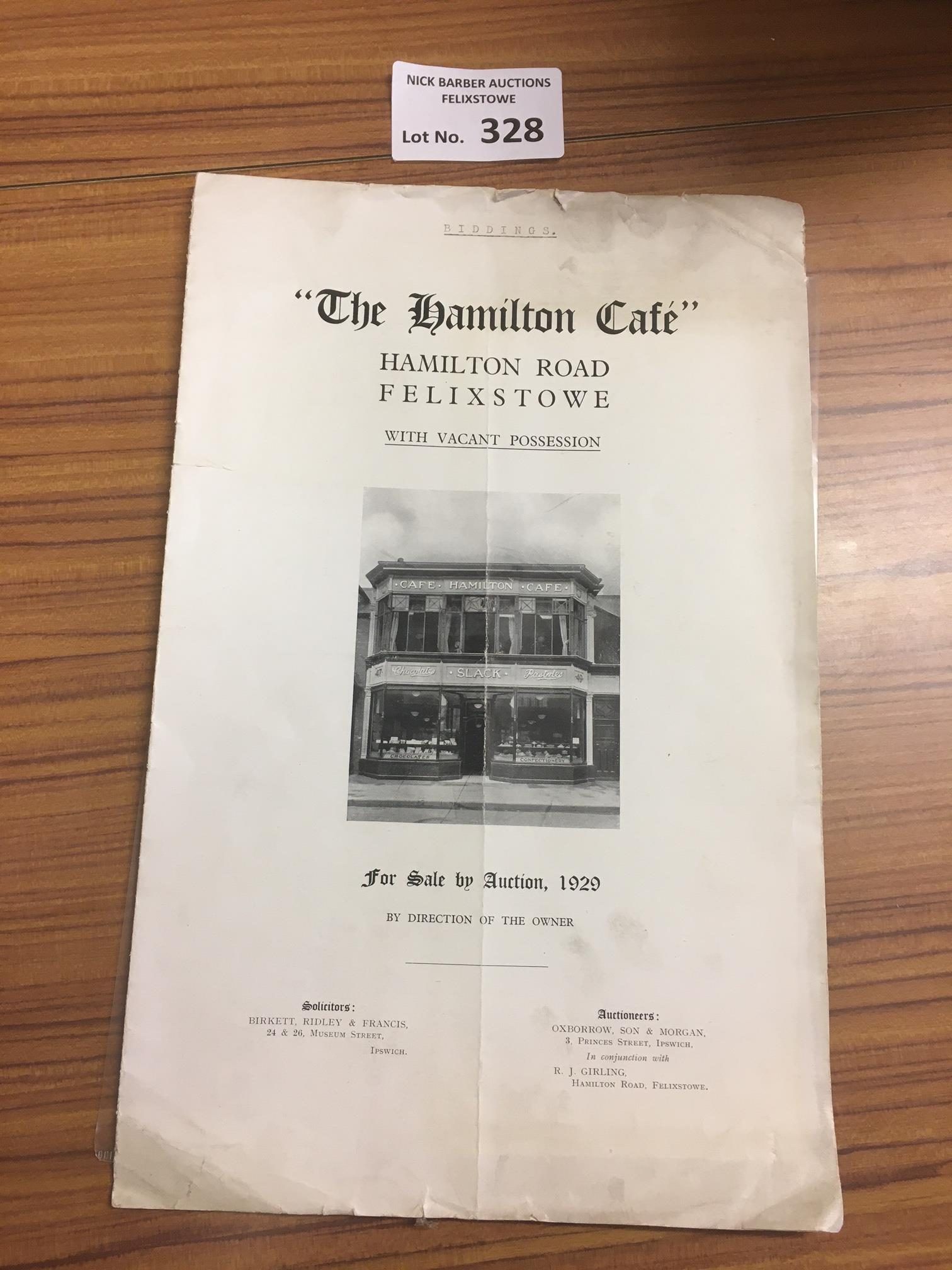 Collectables : Felixstowe sale particulars for the