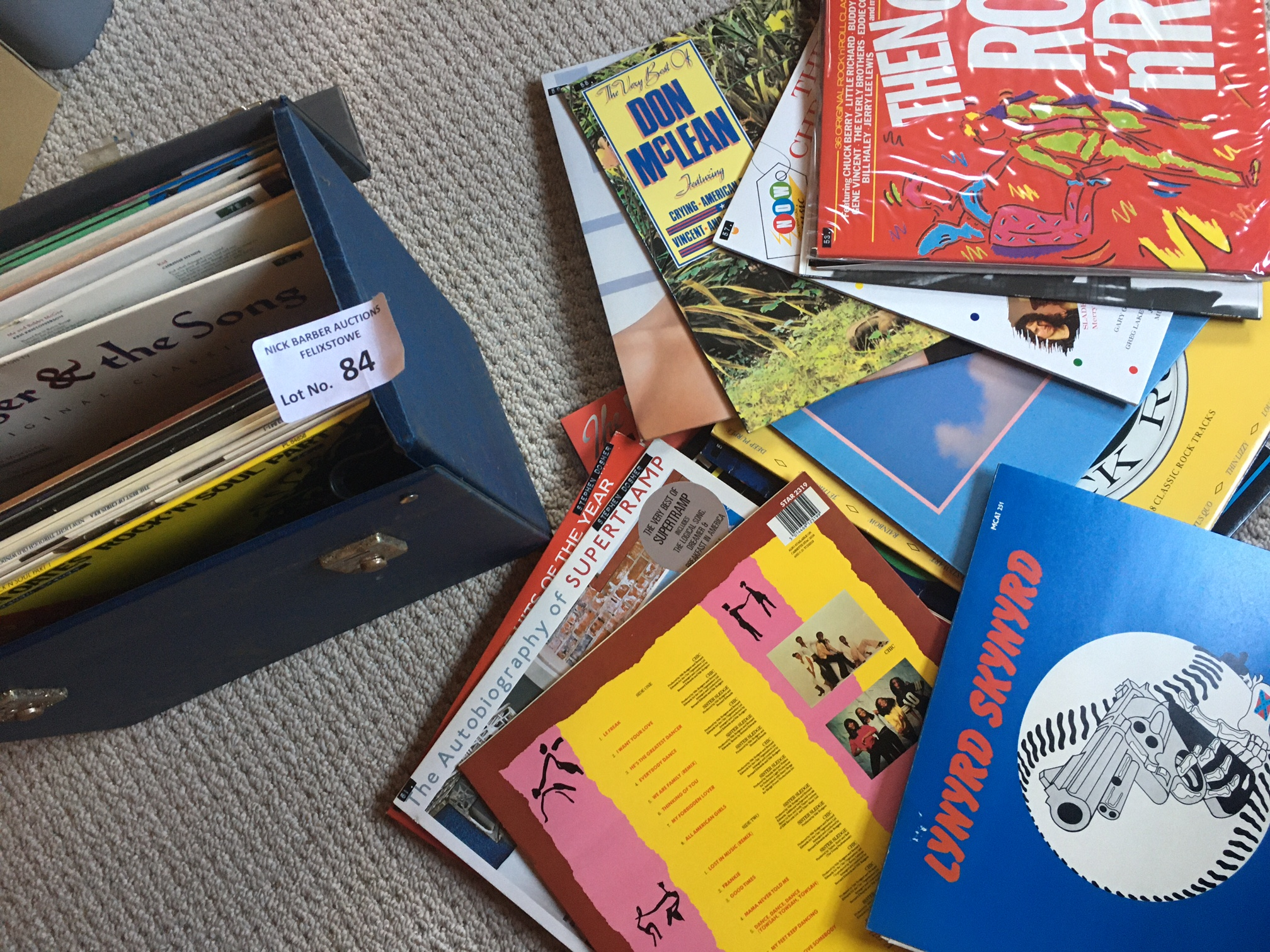 Records : Case of albums Classic Rock inc OMD, Dir
