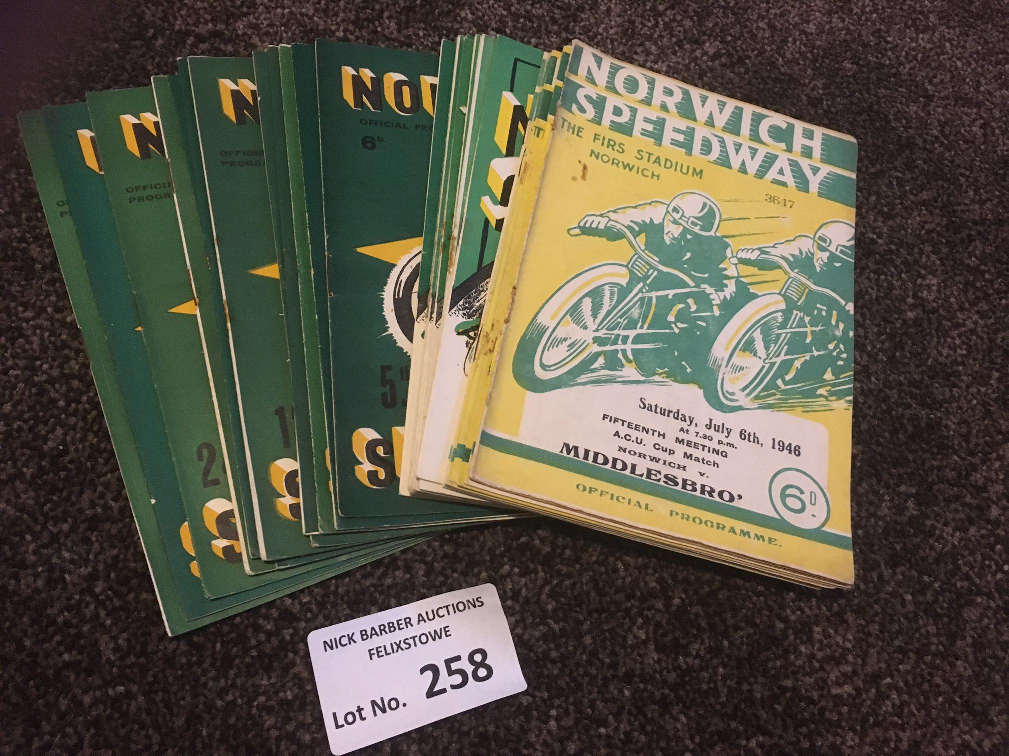 Speedway : Norwich programmes 1946 (7) 1948 (10) 1