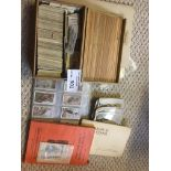 Collectables : Cigarette Cards - Box of cards inc