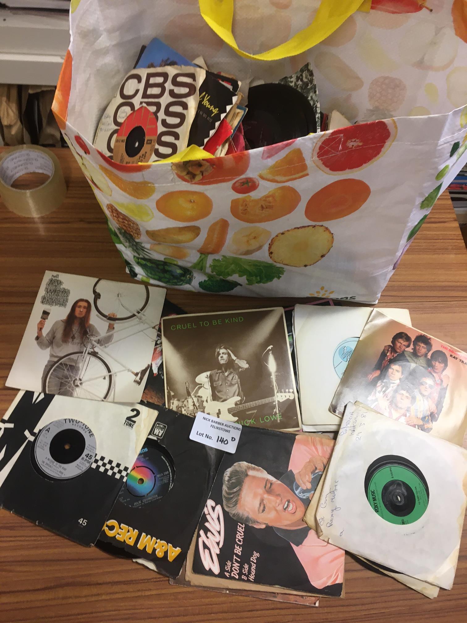 """Records : 7"""" singles big bag - 1960's onward - go"""