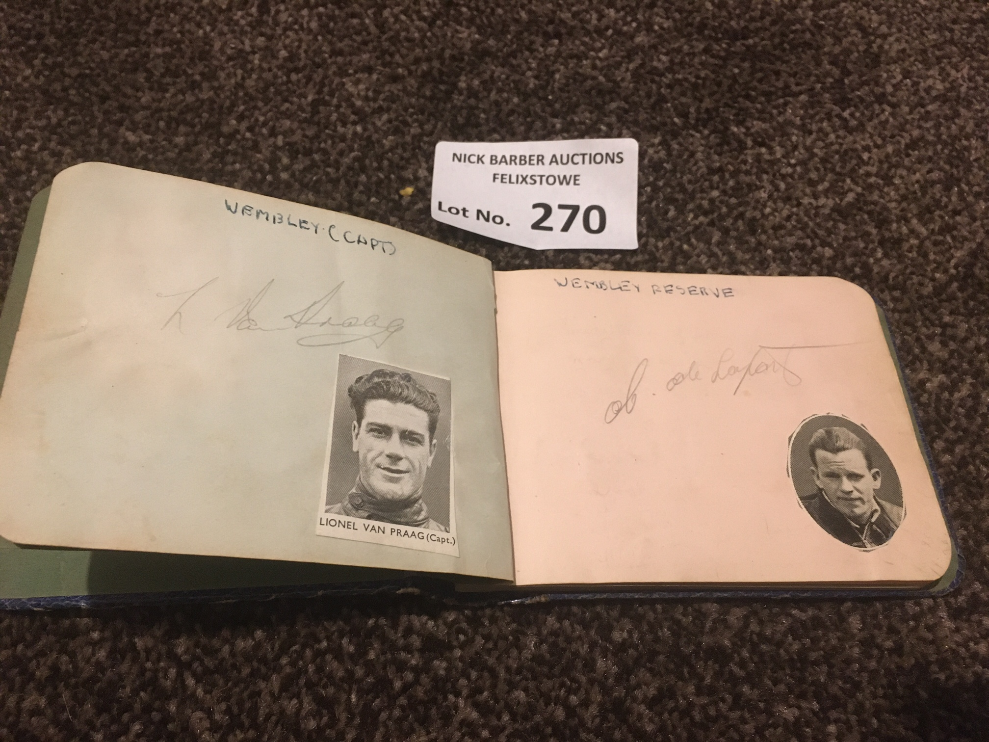 Speedway : Autograph Book 1930's inc Van Prang. Fr