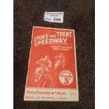 Speedway : Stoke v Newcastle 08/06/1939 rare progr