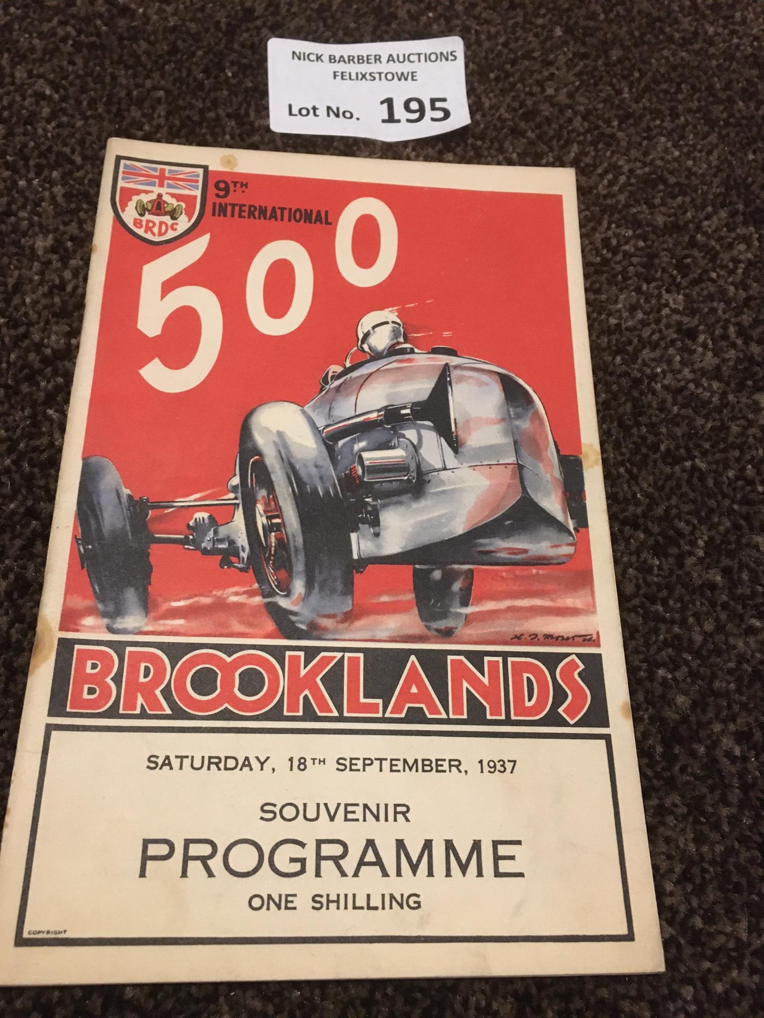 Motor Racing : Brooklands - 9th International 500